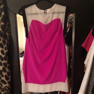 Julia Jordan White, Pink & Black Shift Dress